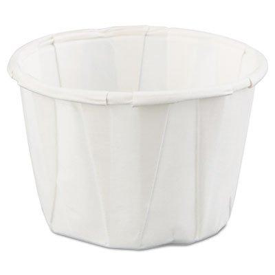 Squat Paper Portion Cup, 1oz, White, 250/Bag, 20 Bags/Carton (5 Cartons)