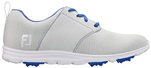 FootJoy Enjoy Women's Golf Shoes - 95708 Light Grey - 8.5 Wide by FootJoy
