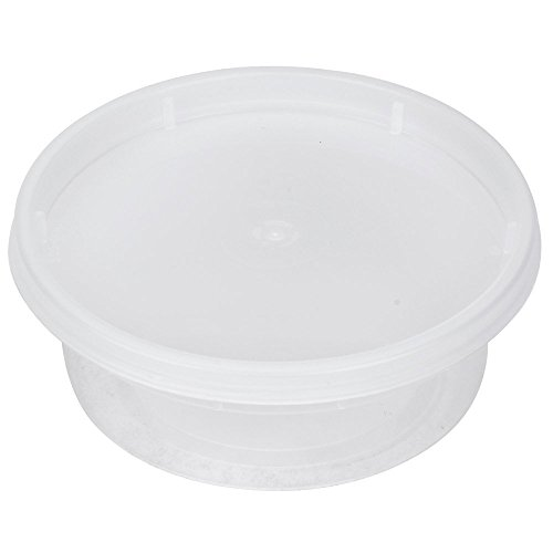 8 Ounce Plastic Take-Out Microwave Soup Food Container with