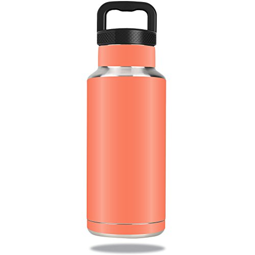 MightySkins Protective Vinyl Skin Decal for Ozark Trail Water Bottle 36 oz wrap cover sticker skins Solid Salmon