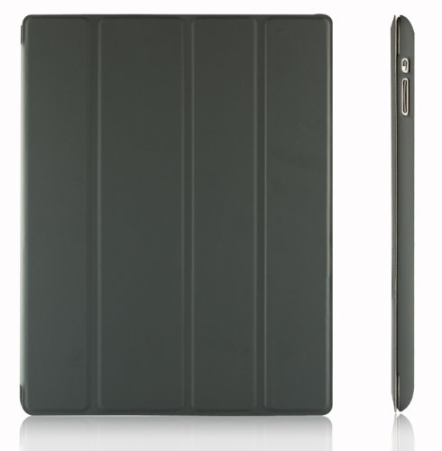 JETech Slim-Fit Folio Smart Cover with Back Case for Apple iPad 4, 3 (with Retina Display) and 2