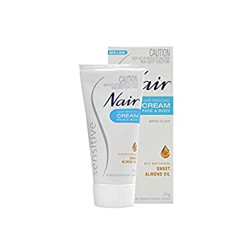 Amazon Com Nair Sensitive Hair Removal Face Body For Body Hair