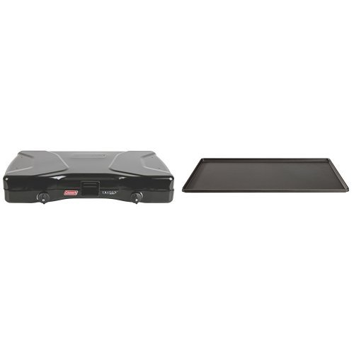 Coleman Triton Series 2-Burner Stove and Coleman Triton Series Griddle Bundle by Coleman