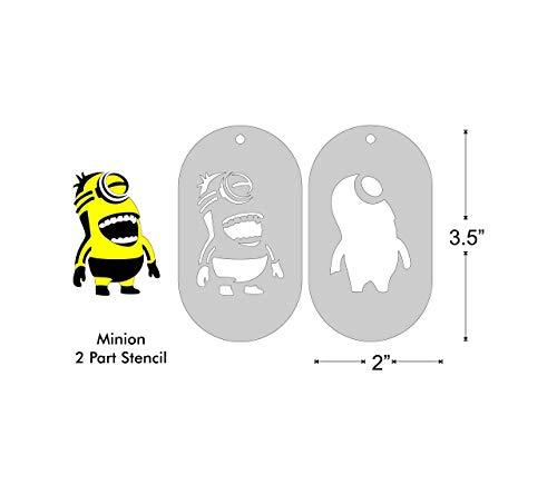 2 Part Stencil Set- Minion, Image Size 2x1.4 on 3.5x2 Border -