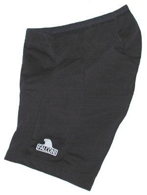 8 Panel Lycra Cycling Shorts (Falconi Women's Verona Large 8 Panel Lycra Bicycle Shorts Black with Sewn-In Seat Pad)