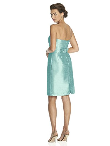 Length Dress Cocktail Dupioni Dessy Alfred Size Seaside with Inset Strapless Midriff 14 Shaped Sung Women's UqIStw0A