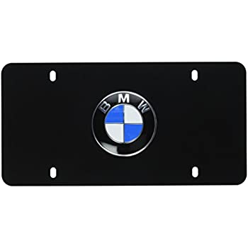Amazon Com New 4 X Bmw Blue Amp White License Plate Frame