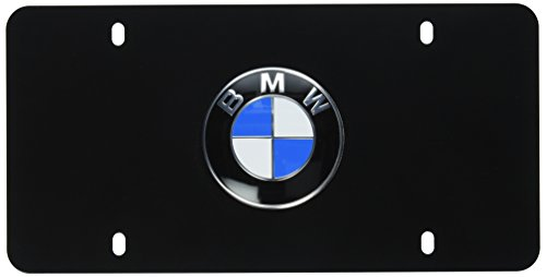 BMW License Marque Plate with BMW Logo Black