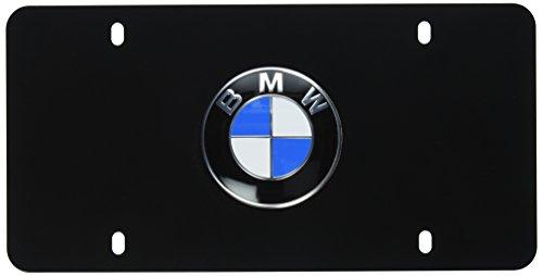 BMW License Marque Plate with BMW Logo Black