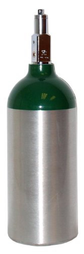 Single Oxygen Tank - 240 Liters POST VALVE A - SINGLE Size M9/C Aluminum oxygen tank (Empty)