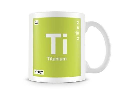 Periodic table of elements 22 ti titanium symbol mug amazon periodic table of elements 22 ti titanium symbol mug urtaz Gallery