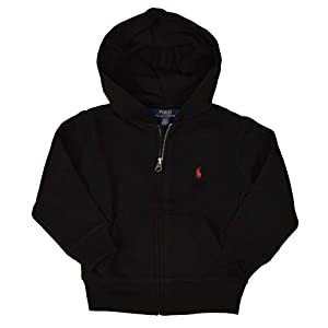 Polo Ralph Lauren Boy's Full Zip Fleece Hoodie – 5 – Black