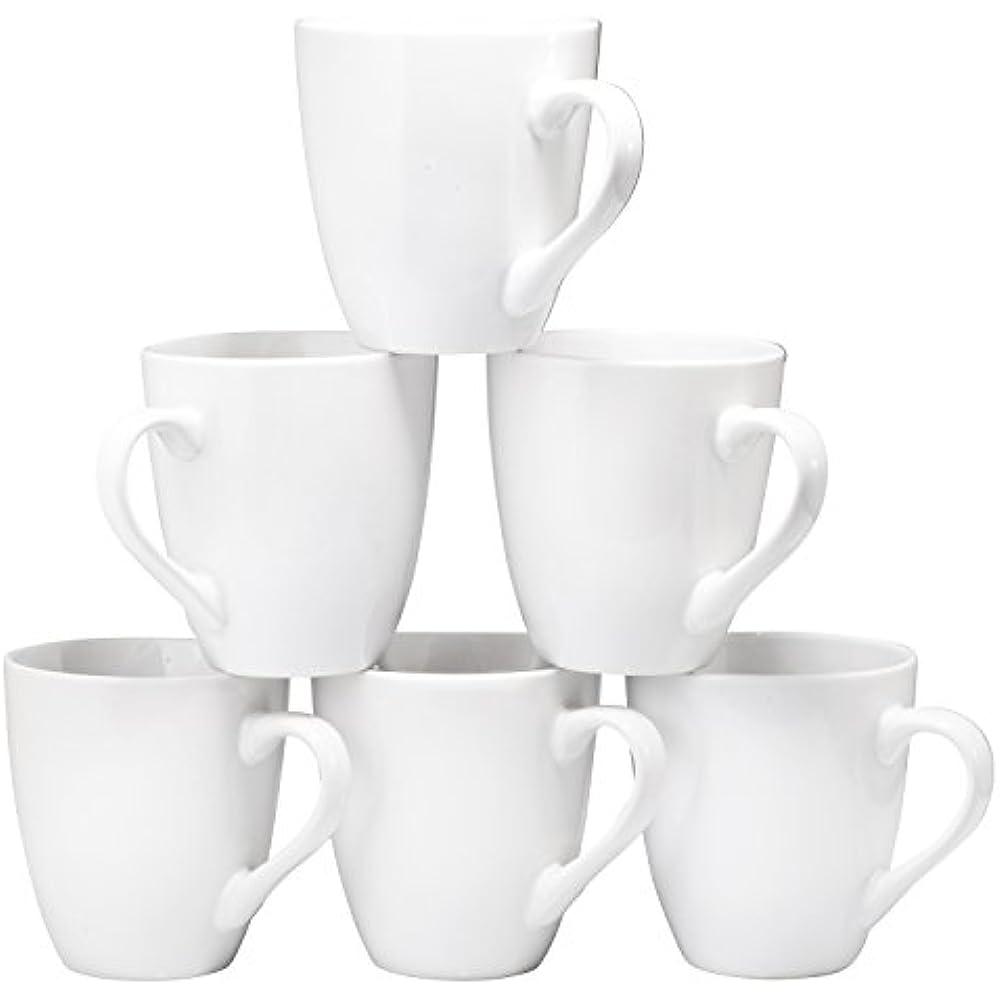 Coffee Mugs Mug Set 6 Large-sized 16 Ounce Ceramic ...