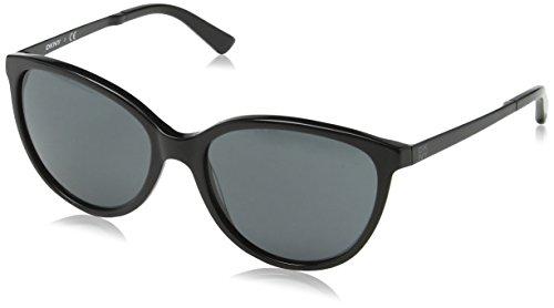 DKNY Women's 0dy4138 Cateye Sunglasses, Black & Satin Black, 57 ()