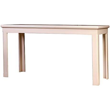Forest Designs Bullnose Alder Writing Table 60 W X 30 H X 24 D Whitewash Oak