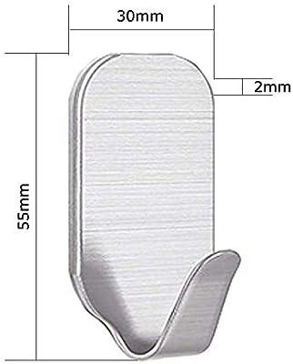 Smaluck - Paquete de 16 ganchos autoadhesivos, acero inoxidable 3M ...