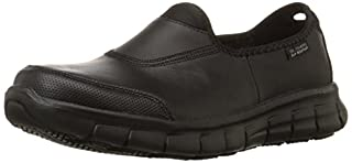 Skechers for Work Women's Sure Track Slip Resistant Shoe, Black, 6 M US (B00BIET56W) | Amazon Products