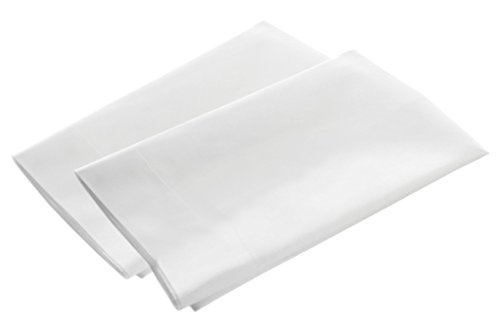 (American Pillowcase Pillow Case Set, 100% Percale Egyptian Cotton, 400 Thread Count, Queen Size, White 2 Pack)