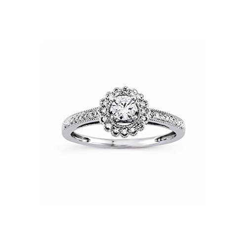 14k Semi-Mounting Wg Engagement Ring, No Center Stone Included (14k Mountings Wg)