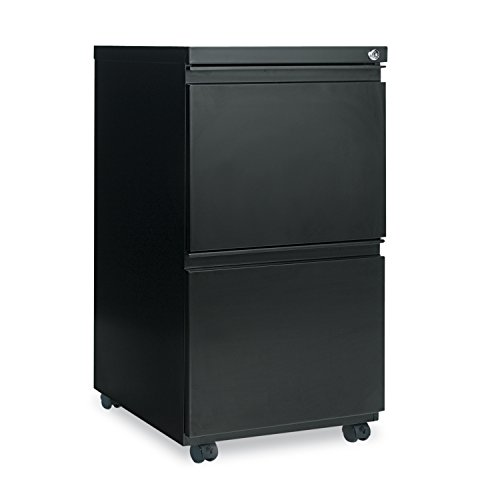 High Security Filing Cabinets (Alera PB54-2819BL PB542819BL Two-Drawer Metal Pedestal File With Full-Length Pull 14-7/8w x 19-1/8d Black, Black )