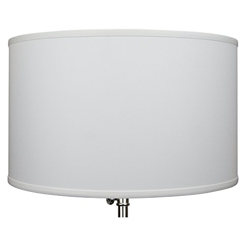 FenchelShades.com 18'' Top Diameter x 18'' Bottom Diameter 11'' Height Cylinder Drum Lampshade USA Made (White) by FenchelShades.com (Image #2)
