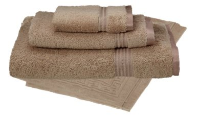 4 Piece Home Collection Spa (Luxury Spa Collection - 4 Piece Towel Set Egyptian Cotton, BEIGE)
