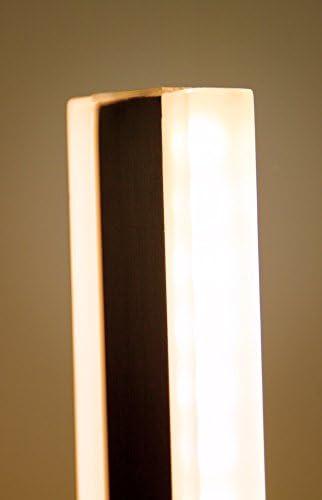 LED Universum LED Stehlampe Yan: aus Aluminium in gebürsteter Edelstahl-Optik und opalem Kunststoff, 31W, warmweiß (3000K), 150,6 x 15 x 20 cm, für Wohn- & Schlafzimmer, Büro