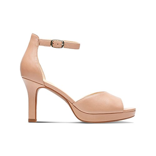 Clarks Mayra Dove, Zapatos Con Cordones Mujer Beige Beige