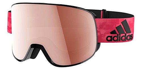 Lst Goggle (Adidas ad81 6050 Black Matt LST Active Silver Progressor C Visor Goggles Lens C)