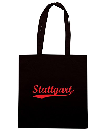 T-Shirtshock - Bolsa para la compra TSTEM0218 vintage stuttgart blue Negro
