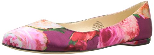 Image of Nine West Women's Speakup Satin Pointed Toe Flat