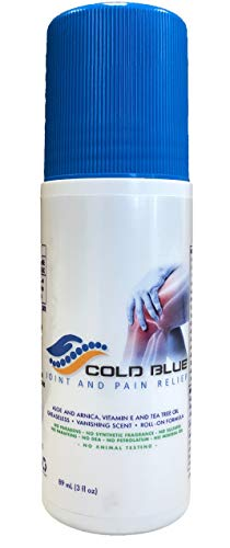 - Cold Blue Joint & Pain Relief Rub   All Natural Formula 3oz Muscle and Joint Rub, Quick Acting Ingredients Targets Pain and Aches   Perfect for Backaches, Arthritis, Strains, Sprains, Bruises