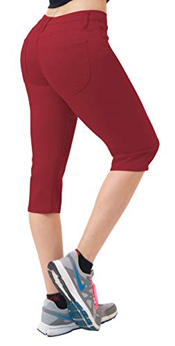 HyBrid & Company Super Comfy Stretch Bermuda Shorts Q43308 Berry 7