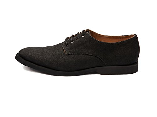 Ahimsa Men's Vegan Derby Shoe (9, Black)