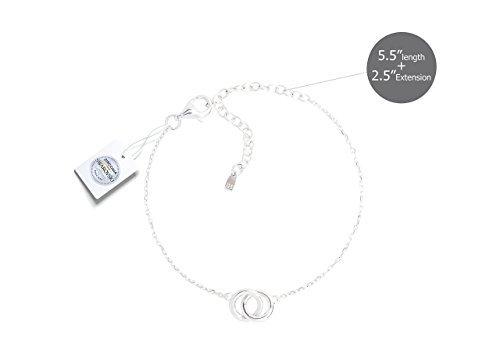 Vivid/&Keith Womens Bracelet 925 Sterling Silver Jewelry 18K Plated Adjustable with Swarovski Zirconia Charm Bracelet/… VVB00054PG