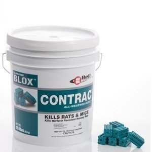 18 LB Contrac Blox Rodent Control Rodenticide Kills Mice & Rats by Bell