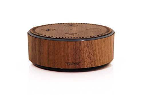 TOAST- Real Wood, Walnut Cover for Amazon Echo Dot (2nd Generation)