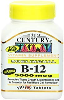 (21st Century B-12 5000 Mcg Sublingual Tablets, 110-Count (Pack of 2))