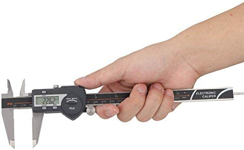 LIZANAN Caliper Electronic Vernier, Sturdy Durable IP54 Waterproof Electronic Digital Vernier Caliper Stainless Steel Ruler Gauge Measuring Tool(0-150mm) Digital Caliper