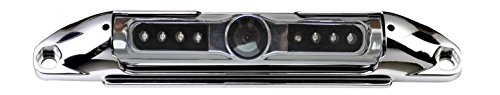 BOYO VTL400CIR Bar-Type License Plate Camera with IR Night Vision (Chrome) - Metal Chrome License Plate Camera