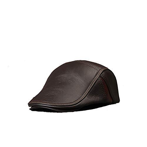 Sombrero Boina Hombre color Cuero Estiramiento Coffe Aiming Size Gorra De Vintage Boinas Coffe Para Plana Pico Xxl Vendedor Periódicos w50nCqtx