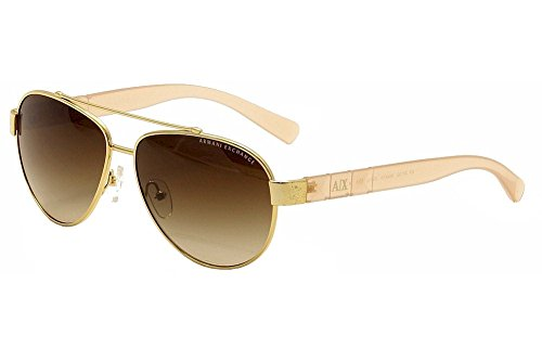 Armani Exchange AX 2010S Women's Sunglasses Gold - Armani Aviator Giorgio Sunglasses