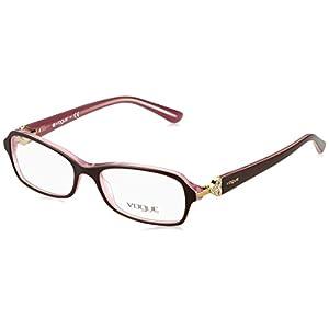 Vogue VO2789B Eyeglass Frames 1941-5216 - Top Brown On Pink Frame, Demo Lens