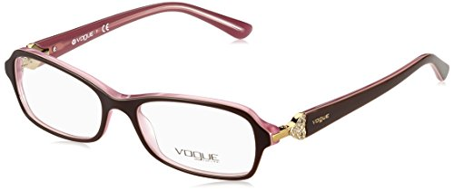 Vogue VO2789B Eyeglass Frames 1941-5216 - Top Brown On Pink Frame, Demo - Eyeglasses Vogue Eyewear