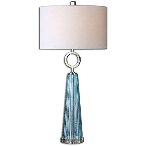 Uttermost 27698-1 Navier Glass Table Lamp, Blue - Transitional Table Hudson Lamp
