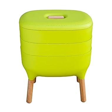 Urbalive Indoor Worm Farm - Organic Compost Vermicomposter, Chic European Design (Green)