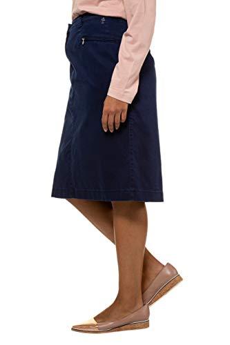 Mélangé Femme Marine Grandes Popken Mony Ulla Droite Tailles Stretch 714920 Bleu Coton Jupe TAqn6
