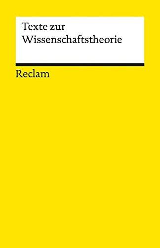 Texte zur Wissenschaftstheorie (Reclams Universal-Bibliothek) Gebundenes Buch – 11. November 2016 Jonas Pfister Philipp jun. GmbH Verlag
