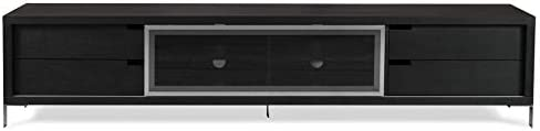 Zuri Furniture Modern ROMO Dark Oak TV Unit