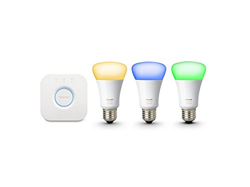 046677426354 - Philips Hue White and Color Starter Kit (Old Model, 1st Generation), 3 Bulbs and a Bridge, Works with Amazon Alexa carousel main 2